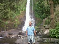 Guide at Gitgit Waterfall